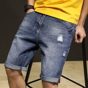 Plus size 28-42 men jeans shorts casual blue denim jeans shorts men summer dropship man