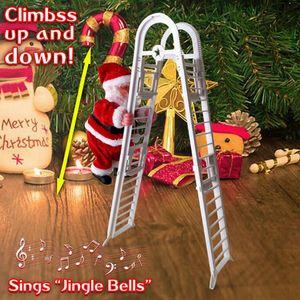 Новый Рождество Санта-Клаус Электрический Climb Лестница висячие куклы украшения рождественской елки украшения Xmas Игрушки Детские подарки CYZ2752 море Доставка