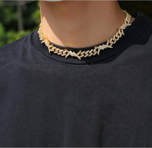 New style thorns diamond Neckalce,Hip-hop wire chain Necklace diamante Chains,high quality fashion rock and rap neckalce jewelerys NNT1489
