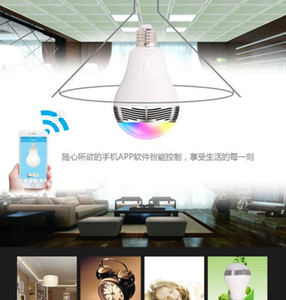 20pcs Smart LED Bulb Bluetooth Speaker LED RGB Light E27 Base Wireless Music Player with APP Remote Control