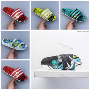 2020 new men and women high quality striped rubber summer sandals outdoor summer non-slip fashion indoor slippers 38-45