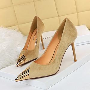 Big Tree Woman Fashion Designer Marque Pompes dames de luxe de style classique Sexy High Heels pailletée Vamp Toe Stiletto Chaussures Pointu de mariage