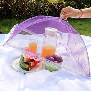 Cooking Utensils Multi Color Pop Up Mesh Screen Food Cover Tent Umbrella Folding Outdoor Picnic Foods Covers Meshes High Quality 2 99hs