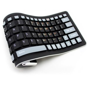 Top Sale Silicone Waterproof Keyboard Wireless Bluetooth Soft Fashion Mix Color Flexible Portable Keyboards for Laptop 0.4kg