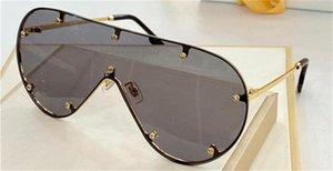 Novo design de moda óculos de sol Z1381 de metal grande quadro de uma peça óculos super cool estilo da moda moda UV400 óculos de proteção de alta qualidade