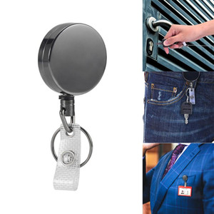 Retractable Pull Key Chain Reel ID Badge Lanyard Name Tag Card Badge Holder Reel Recoil Belt Clip