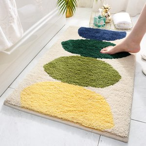 Nordic ins Thick flocking bedroom carpet living room mat Simple Household kitchen Hotel Doorway Water-absorbing non-slip mat