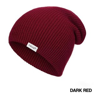 Autumn Winter Knitted Beanie Hat for Boys Girls Fashion Casual Women's Beanies Hats Solid Color Letter Winter Hat Men Kids