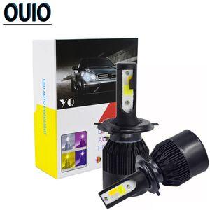 2PCS 60W Auto Head Lamp C6 светодиодные лампы H4 Strobe 4 цвета вспышки света автомобиля 12V фар Противотуманные фары H1 H3 H7 H11 800 881 9012 9005