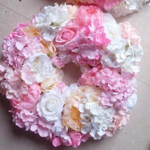 SPR 8pcs lot pink wedding table flowers centerpiece wreath candelstick garland decorative flower balls wedding decoration