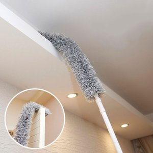 1pcs 179CM Magic Telescoping Anti Static Soft Microfiber Cleaning Duster Brush Dust Cleaner Handle Natural Feather lp0039