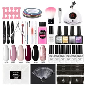 Nail UV LED Lamp Dryer with Nails Cutter File Gel Polish Brush Kit Soak Off Manicure Tools Set Decoration Decals
