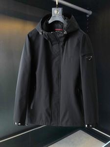 20SS мужчины Ветровка бренд случайного ретро куртки высокого качество импортировано смесь Карманной водонепроницаемой молнии дизайн Осень и зима балахон