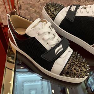 2020 인기있는 낮은 탑 주니어 스파이크 캐주얼 플랫, 패션 레드 바닥 스 니커 남성 야외 트레이너 레드 솔 워킹 파티 웨딩 레저 신발
