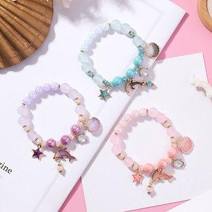 YADA 2020 ins Dolphin&shell Bracelets&Bangles For Women beads Charm Bracelets stars Handmade Crystal Jewelry Bracelet BT200344