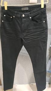 جديد فاخر مصمم رجالي جينز مغسول تصميم الأسود سليم من الساق جينز خفيفة الوزن الدينيم الإمتداد جينز نحيل جينز نحيل سروال حجم 29-40