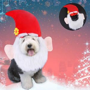 Costume férias Pet Natal do chapéu de Santa do filhote de cachorro Cat Xmas Decoração Ornamento para Xmas Party Início Navidad Christma presente