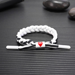 Love Holographic Reflective Lace Woven Little Lion Bracelet Black And White Couples Charm Handmade Multilayer Gift Classic