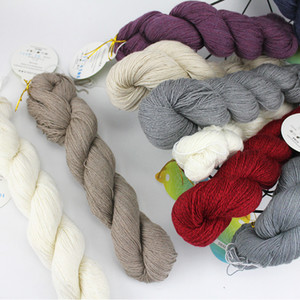 50g Hank Cashmere Wool Blended Yarn Hand Knitting Crochet Lace Weight for Baby Garments Scarves Hats Craft Projects Swan Lake 200924