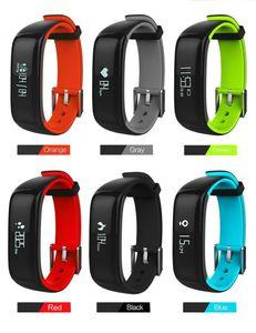 P1 Smartband Montres Bluetooth Smart Sang Bracelet Moniteur de fréquence cardiaque intelligent Wristband Fitness pour Android Phone Ios