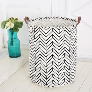 Ins Deposito cestini Bins Bides Room Giocattoli Borse di stoccaggio Borse Secchio Abbigliamento Organizzazione Canvas Laundry Bag HWA1232