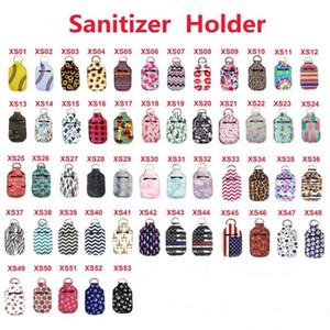 53 Design News Neopren-Abdeckung Sanitizer Halter für 30ML Flip Cap Travel Size Flasche Chapstick Halter-Schlag-Cap-Flaschen mit Schlüsselanhängern