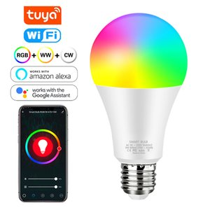 Tuya intelligent Lampe Wifi Ampoule 12W 15W Couleur Changement Ampoule LED RGB e27 110V 220 V APP à distance compatible Alexa Accueil Google