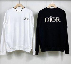roupas de grife rosca em torno do pescoço carta algodão bordados pin homens Luxo 20FW França Moda s camisa de alta qualidade designer de t das mulheres dos homens
