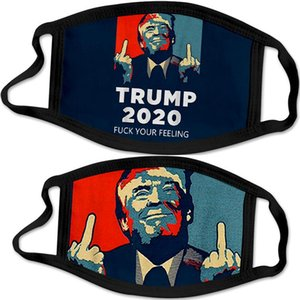 trump face mask Make America Great Again 2020 US President Election Mask Trump 3D Printing Anti Dust Washable Mask Wholesale DHB1193