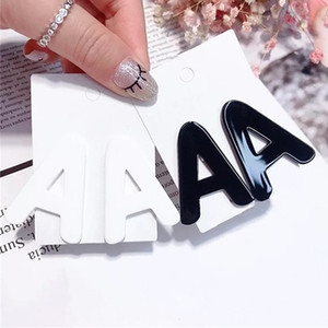 New Fashion Tiny Letter Earrings Cute Acrylic A B Stud Earrings for Women Girls Kids Personality Jewelry Brincos Gift