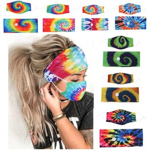 Hot Yoga hair band Creativity Hair Band Mask Set Button lanyard Dustproof Anti-fog Breathable Antiperspirant Fashion Masks GWB1889