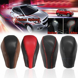 Car Gear Shift Knob Handle Cover PU Leather Auto Styling Interior Accessories For Infiniti QX50 QX70 QX80 EX FX ZJZh#