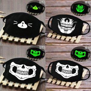 Koyu Halloween Skeleton Bayanlar Yarım Yüz Kapak Glow Muerte Kafatası Hotclipper Pahof Maske