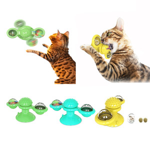 Windmill Cat Toy Turntable Teasing Interactive Cat SpinToys for Scratching Tickle Cats Hair Brush Funny Toys for Cats Supplier