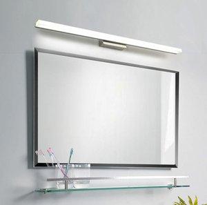 Cgjxs Espejo de baño llevó la luz ligera de la pared frontal de espejo de maquillaje LED Iluminación impermeable antiniebla llevada de acrílico Espejo de pared Luz # 02