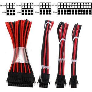 4 + 4Pin PCIE PC Bilgisayar için 6 + 2PIN PCIE 6Pin Power Uzatma Kablosu EPS 1pc 1set Temel Uzatma Kablosu Seti 1pc ATX 24 pin