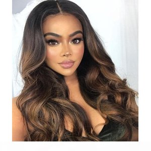 Pre Plucked Full Lace Human Hair Wigs With Baby Hair Peruvian 360 Lace Frontal Virgin Human Hair Boday Wave Highlights Wig Honey Blonde