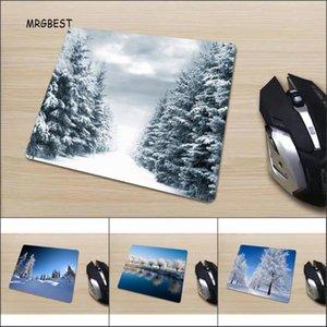 Auf Lager Small Size-Maus-Pad 220x180mm Winter-Schnee-Szene HD gedruckt Deckchen in der Förderung