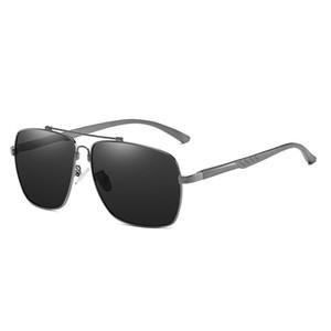 Brand Design Pilot Lunettes de soleil style Hommes polarisants Metal Frame Mode Rétro matière plastique Objectifs 2039 UV400 Protection Eyewea