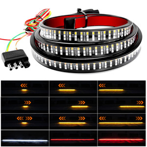 48 60inch Car Brake Turn Light Warning Signal Flexible LED Strip Rear Tail Running Reverse Double Flash Lights For Pickup truck