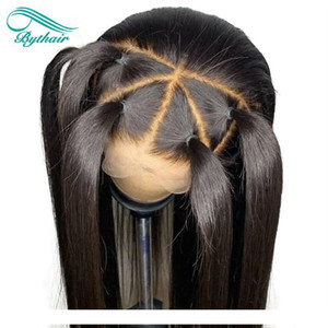 A Bythair Silky Straight Silk Base Lace Front Human Hair Wig Brazilian Virgin Hair Silk Top Full Lace Wig With Baby Hairs