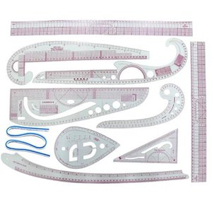 Sewing Notions & Tools INNE 8 9 10PCS Set Ruler Accessories Tailor Measuring Kit Drawing Yardstick Sleeve Arm French Curve Cutting