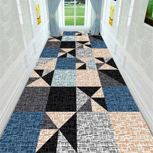 Modern Style Anti-slip Corridor Rug Doorway Floor Mat Bathroom Kitchen Balcony Bedside Area Rug Home Deocr Living Room Carpets
