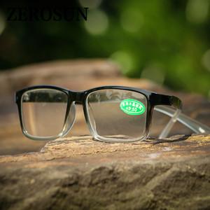 Zerosun Glas Lesebrille Männer Frauen Anti Scratch Stein Objektiv HD Dioptrien Man ist in der Umgebung Vision-Brillen +100 150 200 250 Fall-freies