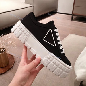 New product hot sale fashion Paris catwalk shoes canvas platform shoes increased casual shoes women s shoe large size 34-40