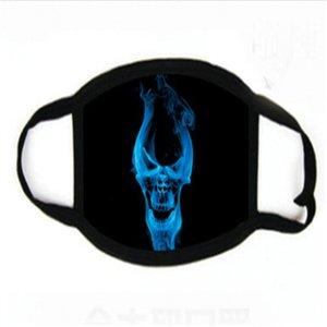 Tricoter en stock coloré Imprimé SCUA Faric anti-poussière Masque Fa Famask gratuit Fedex Sipping # 182