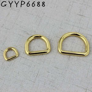 High quality 10pcs 50pcs 13mm 32mm Deep gold Tone Dee D ring match buckle Cast Solid Custom manufactured Cast Solid Buckles 4zaH#