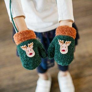 Christmas Children Baby Glove Winter Warn Five Finger Mittens Kids Cotton Gloves Cotton Blends Unisex Cotton,polyester Cartoon
