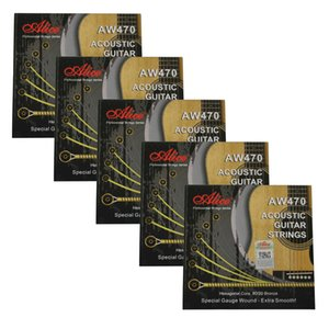 5Sets Alice Acoustic Guitar Strings Extra Smooth 80 20 Bronze Winding AW470-CSL