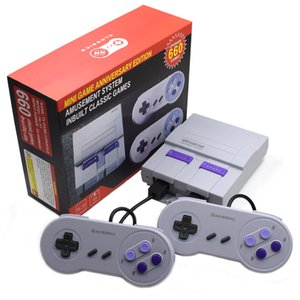 Super Classic SFC TV Handheld Mini Game Consoles 2018 Newest Entertainment System For 660 SFC NES SNES Games Console Drop Shipping free DHL